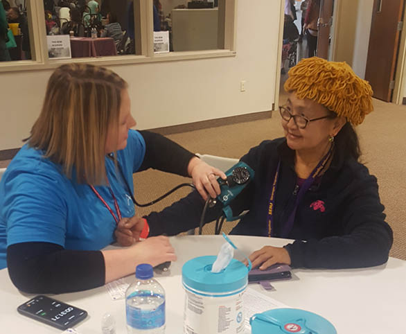Avamere team member serving the homeless at 2019 Project Homeless Connect event in Beaverton, Oregon