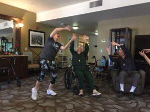 Laughter Yoga at Avamere at Oak Park in Roseburg, Oregon