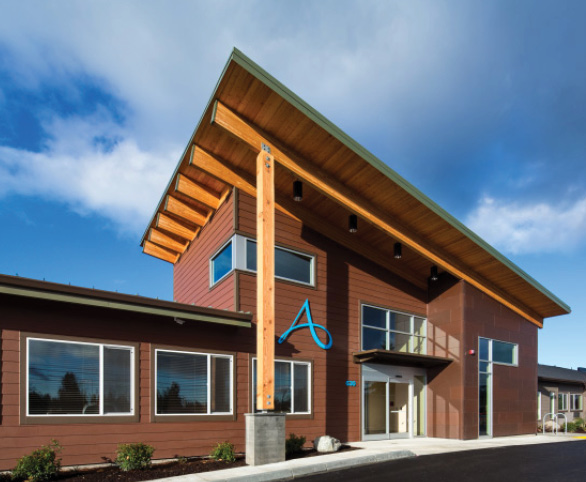 Entrance to Avamere Transitional Care of Puget Sound in Tacoma, Washington