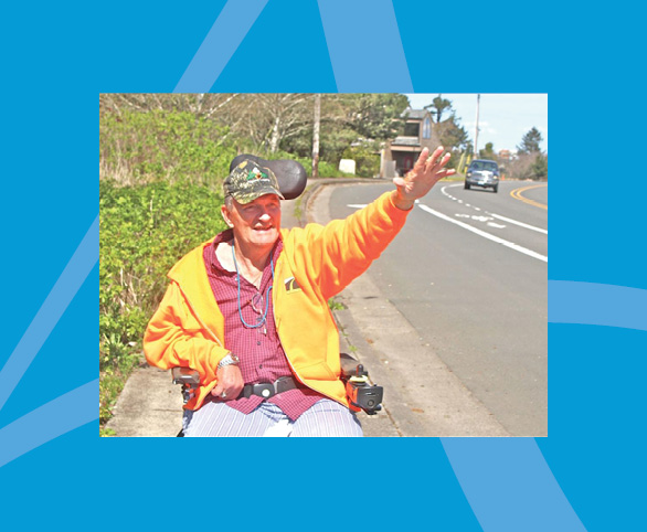 Gary Lewis, resident, Suzanne Elise assisted living, Seaside, Oregon
