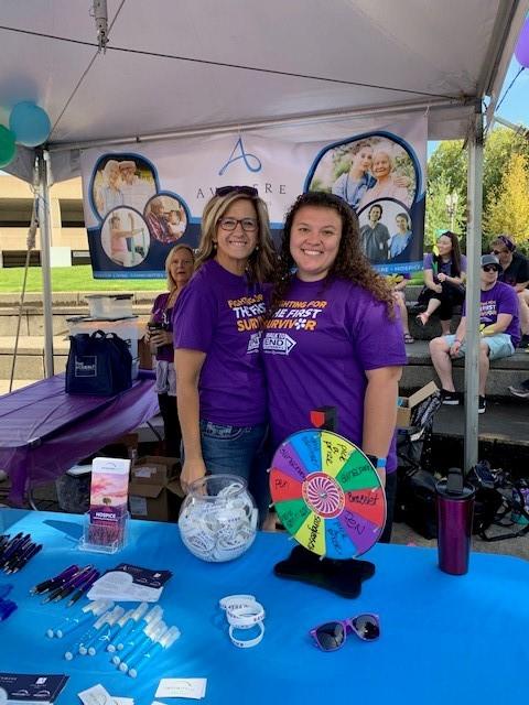 Walk to End Alzheimer's Avamere volunteers