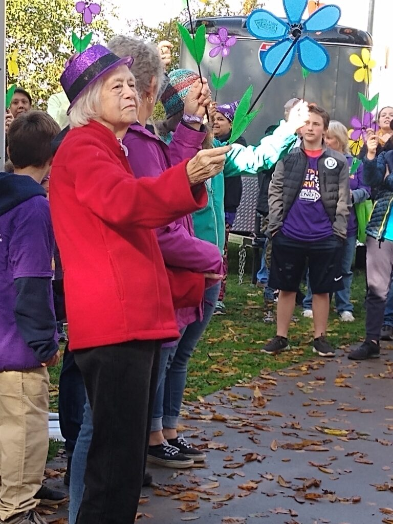 Hope Jones, resident of the Arbor at Avamere Court, at the Walk to End Alzheimer's