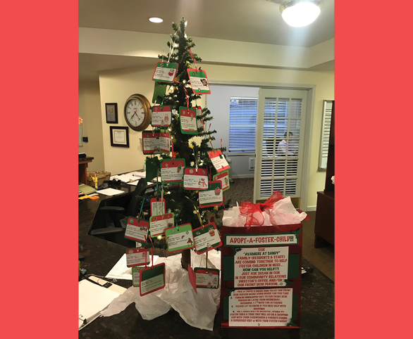 Adopt a Foster Child for Christmas at Avamere at Sandy, an assisted living and memory care community