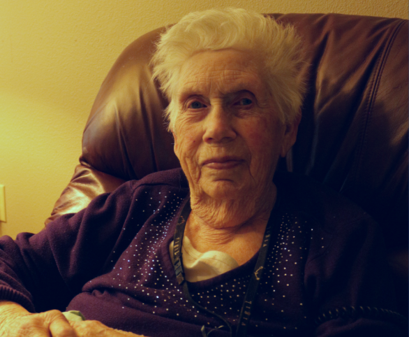 Lucille Wold, assisted living resident at Avamere at Hillsboro in Oregon