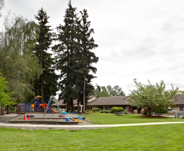 St. Francis of Bellingham courtyard and playground in Bellingham, Washington