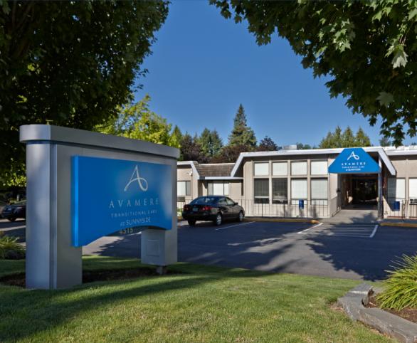 Avamere Transitional Care at Sunnyside sign and entrance in Salem, Oregon