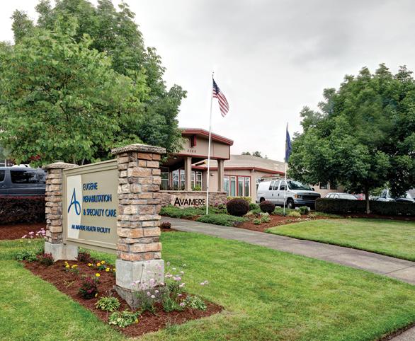 Avamere Rehabilitation of Eugene sign in Eugene, Oregon