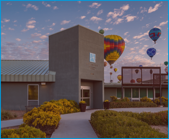 Avamere Rehab at Fiesta Park with hot air balloons in background