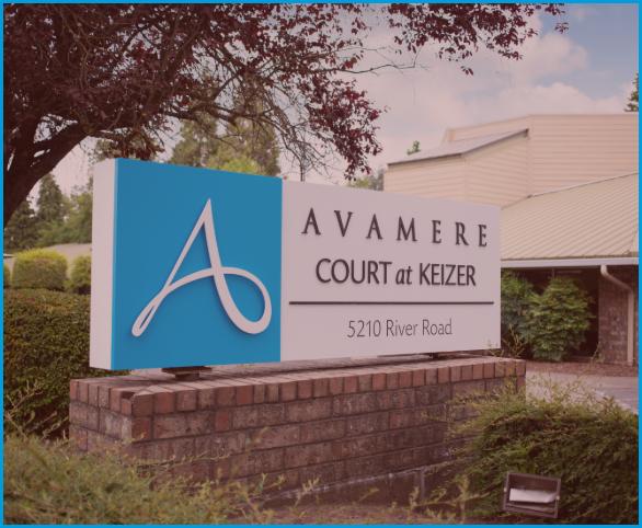 Avamere Court at Keizer sign