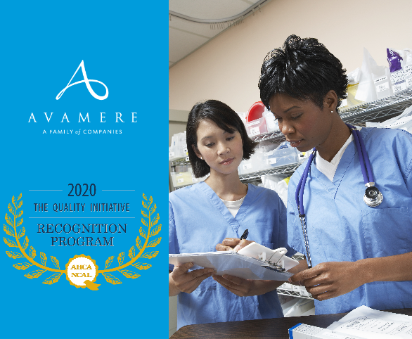 Avamere receives honor from AHCA/NCAL for Quality Initiative Recognition Program