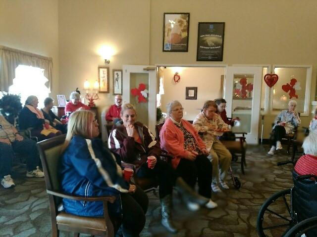 Senior residents at Avamere at Moses Lake Chocolate Extravaganza