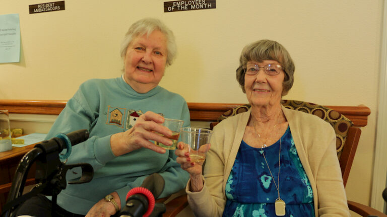 Toasting at Avamere at St. Helens 20th Anniversary