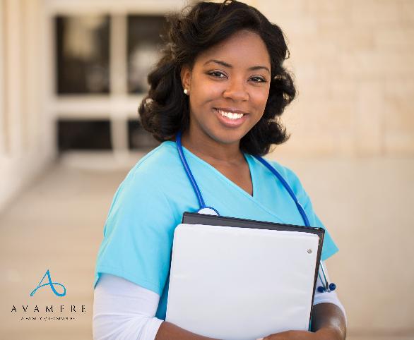 Nurse holding notebook