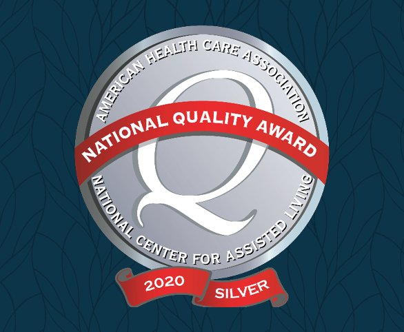 Silver Achievement in Quality Award 2020 from the American Health Care Association