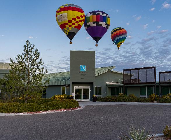 Balloon Festival view from Avamere Rehabilitation at Fiesta Park