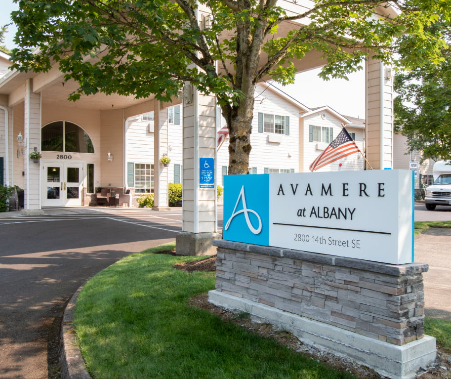 Avamere at Albany Front Sign